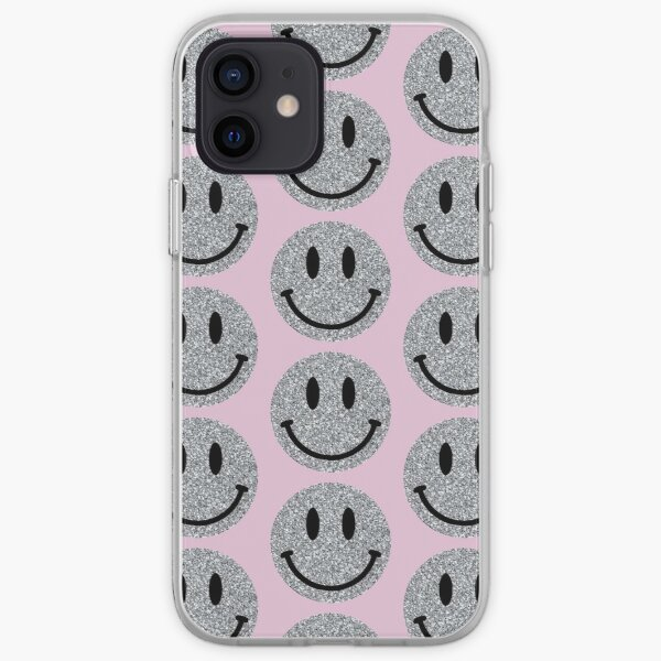 glitter smiley face iPhone Soft Case