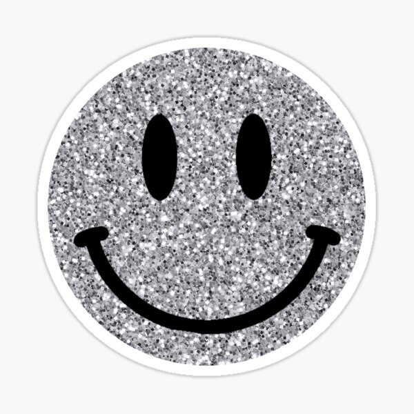 glitter smiley face Sticker