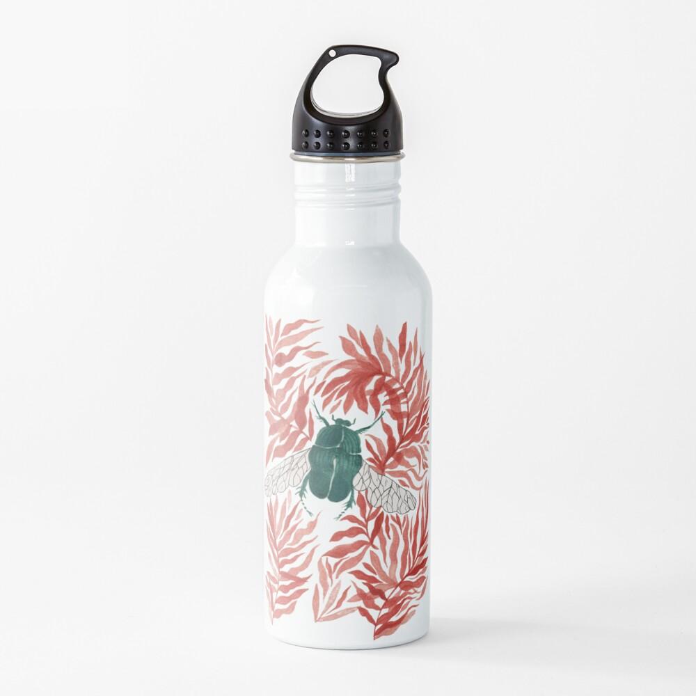 Green good luck beetle  Water Bottle