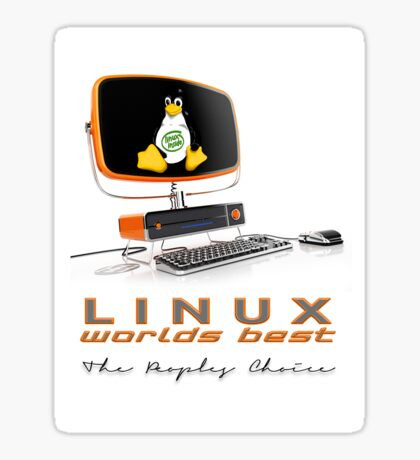 Linux Worlds Best - The Peoples Choice Sticker