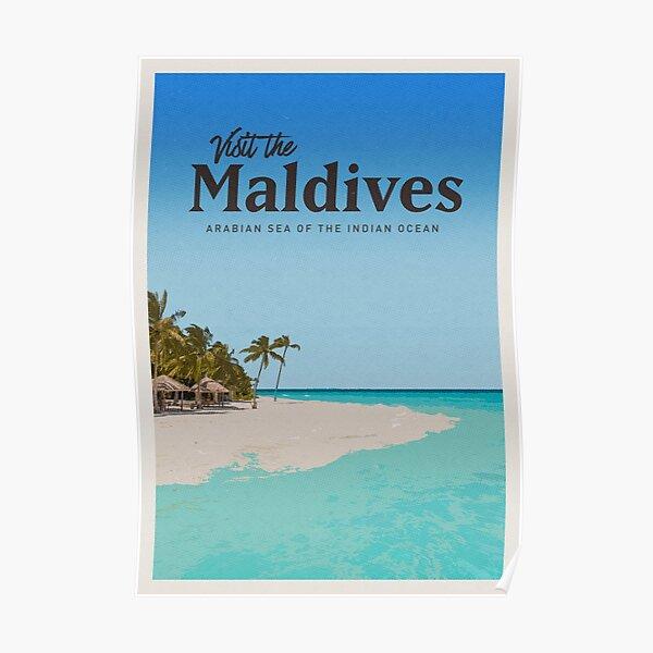 Visiter les Maldives Poster