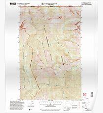 USGS Topo Map Washington State WA Skagit Peak 243738 2002 24000 Poster