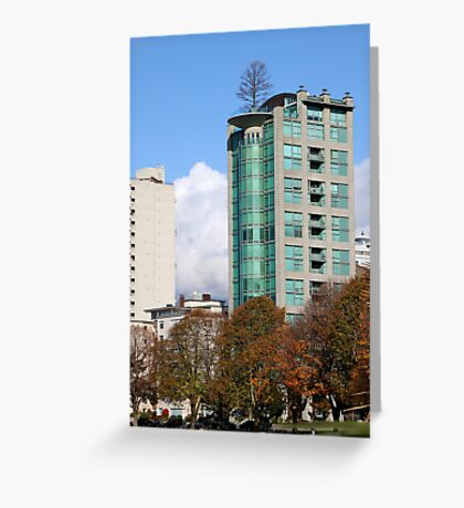 Highrise at English Beach, Vancouver Greeting Card