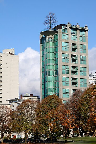 Highrise at English Beach, Vancouver by Carole-Anne