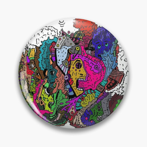 Screams: Color Psychedelic Pin