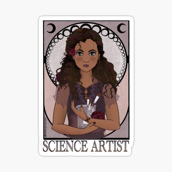 Science Artist (Art Nouveau) Sticker