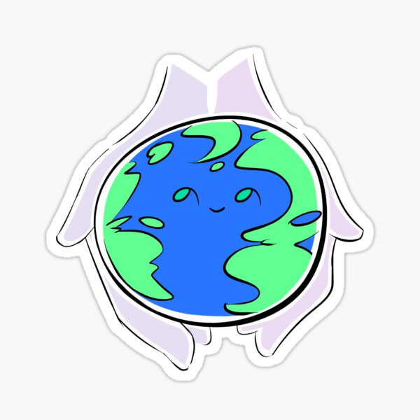Lumpy Baby Earth Sticker
