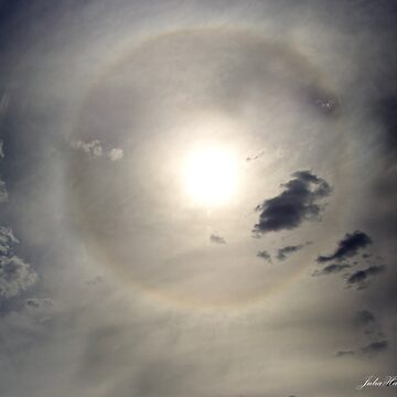 Halo around the Sun by JuliaKHarwood
