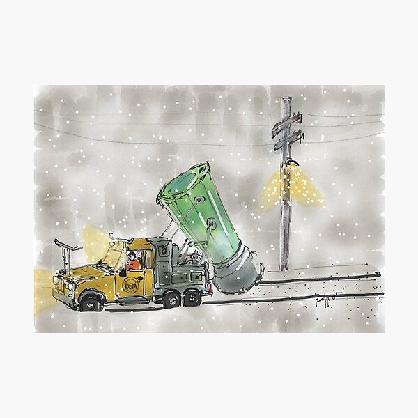 Salt Trucks Photographic Print