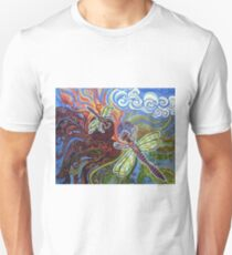 Two Dragonflies Unisex T-Shirt