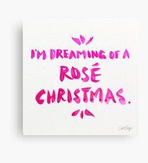 Rosé Christmas Canvas Print