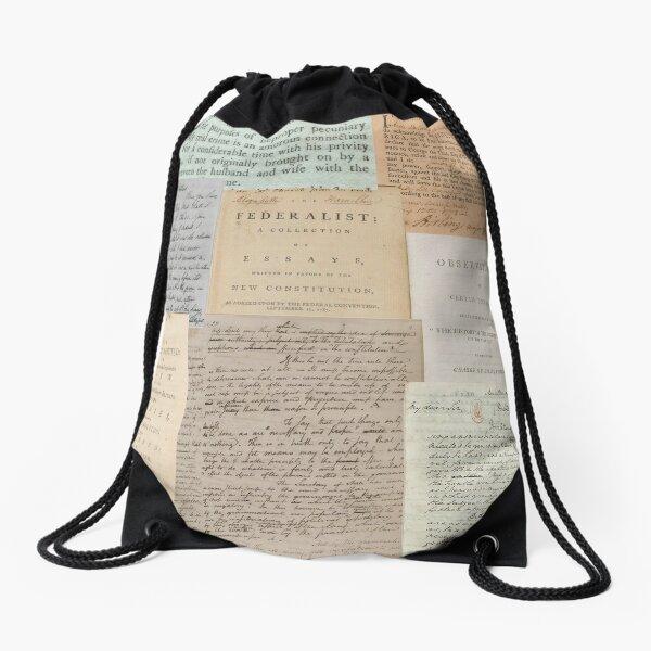 Alexander Hamilton Papers Collection Drawstring Bag