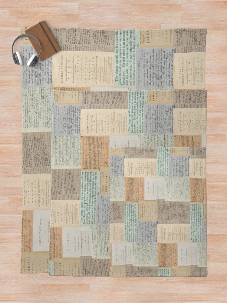 Alternate view of Alexander Hamilton Papers Collection Throw Blanket