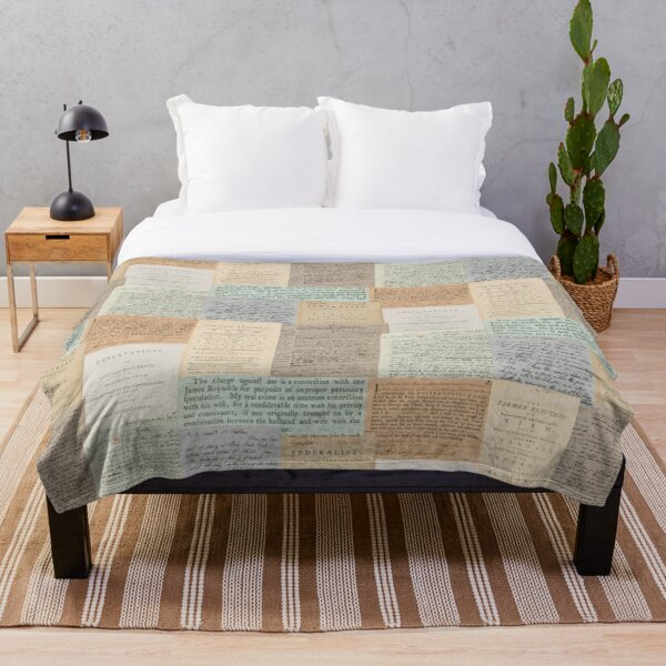 Alexander Hamilton Papers Collection Throw Blanket