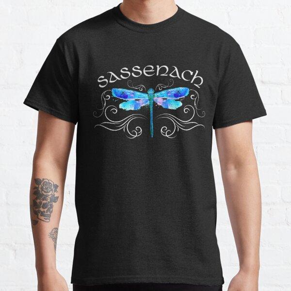 Sassenach libellule aquarelle aquarelle Design T-shirt classique