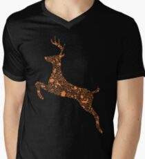 Christmas Reindeer 1 Mens V-Neck T-Shirt