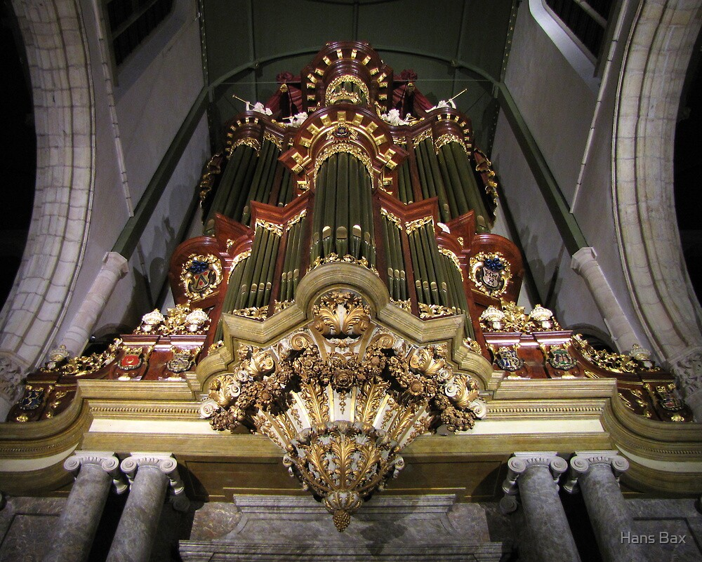Moreau-orgel St. Janskerk Gouda  by Hans Bax