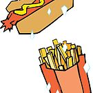 Hot Dog French Fry by Kathryn DiMartino