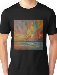 Hidden Heart Lava Sky Unisex T-Shirt