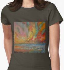Hidden Heart Lava Sky Womens Fitted T-Shirt