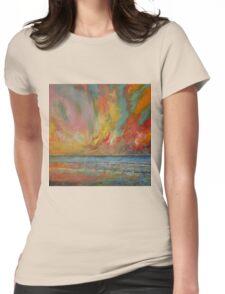 Hidden Heart Lava Sky Womens Fitted T-Shirt