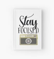 Stay focused vintage camera - great gift for a photographer! Hardcover Journal