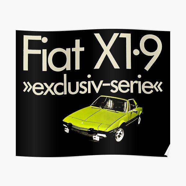 Fiat X1//9 Blueprint Aluminium Sign