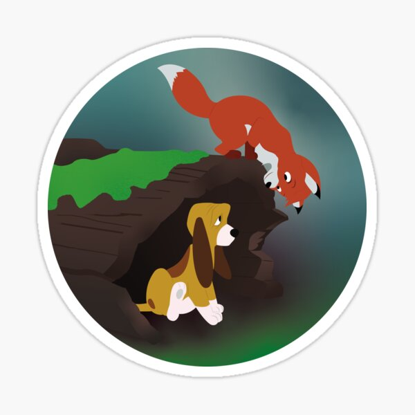 The Fox and The Hound Sticker