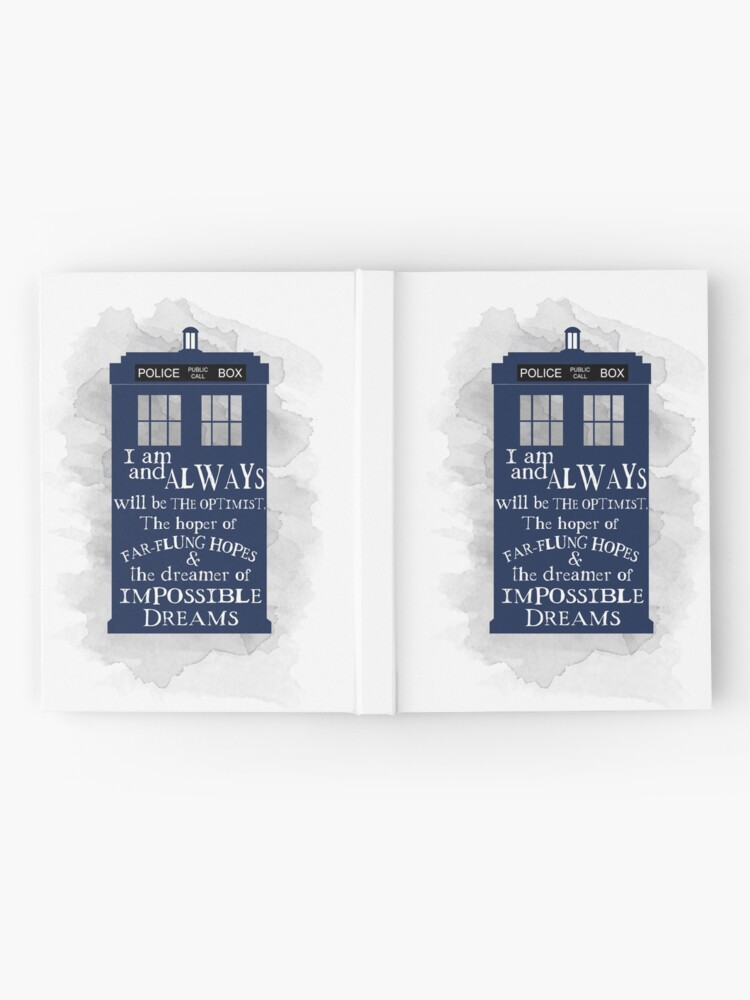 Alternate view of Dr Who - The Optimist quote  Hardcover Journal