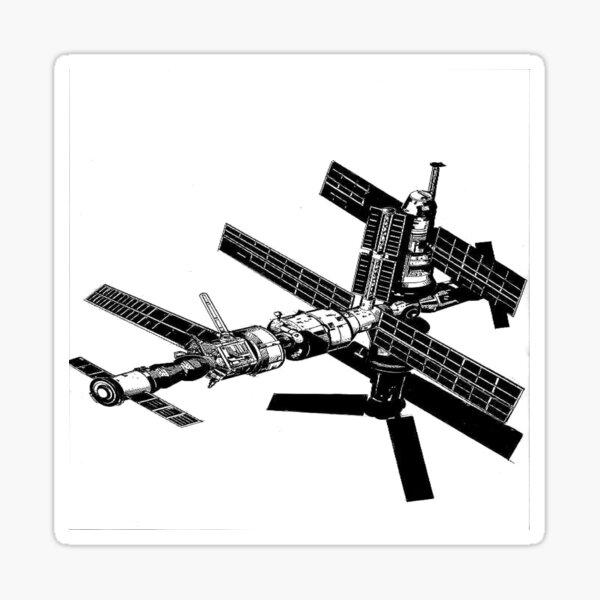 Mir Space Station Sticker