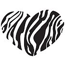 Zebra Heart by LiliFRobinson