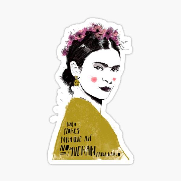 Arte de la cita de Frida Kahlo Pegatina