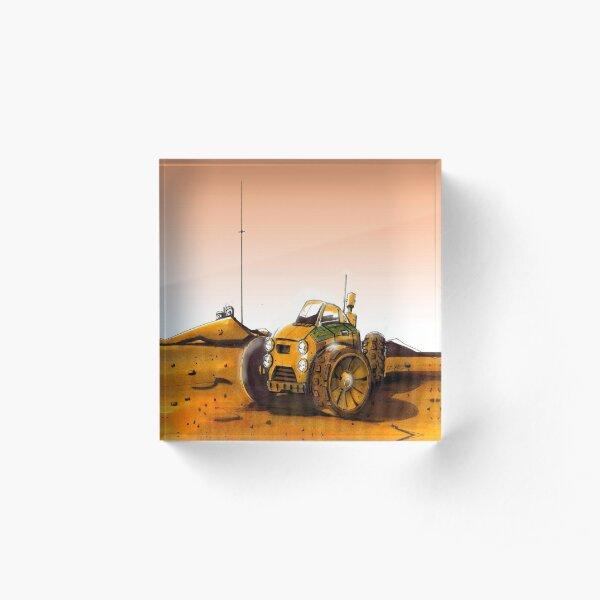 Mars Explorer Acrylic Block