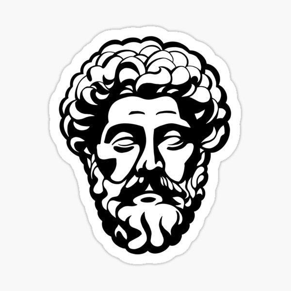 Marcus Aurelius Portrait Sticker