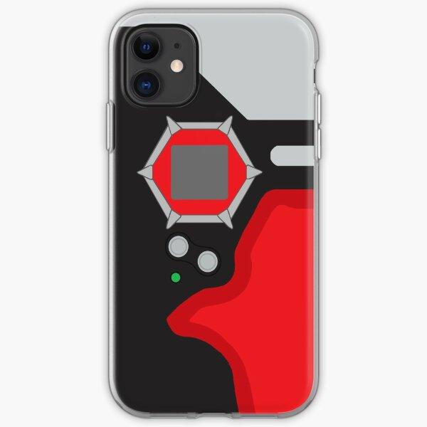 D-tector phone   Crimson and black version iPhone Soft Case