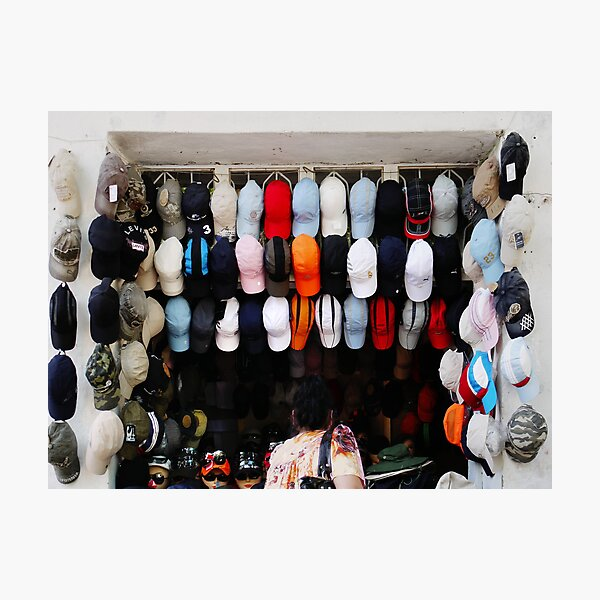 With so many hats, where do you put the sunglasses? Photographic Print