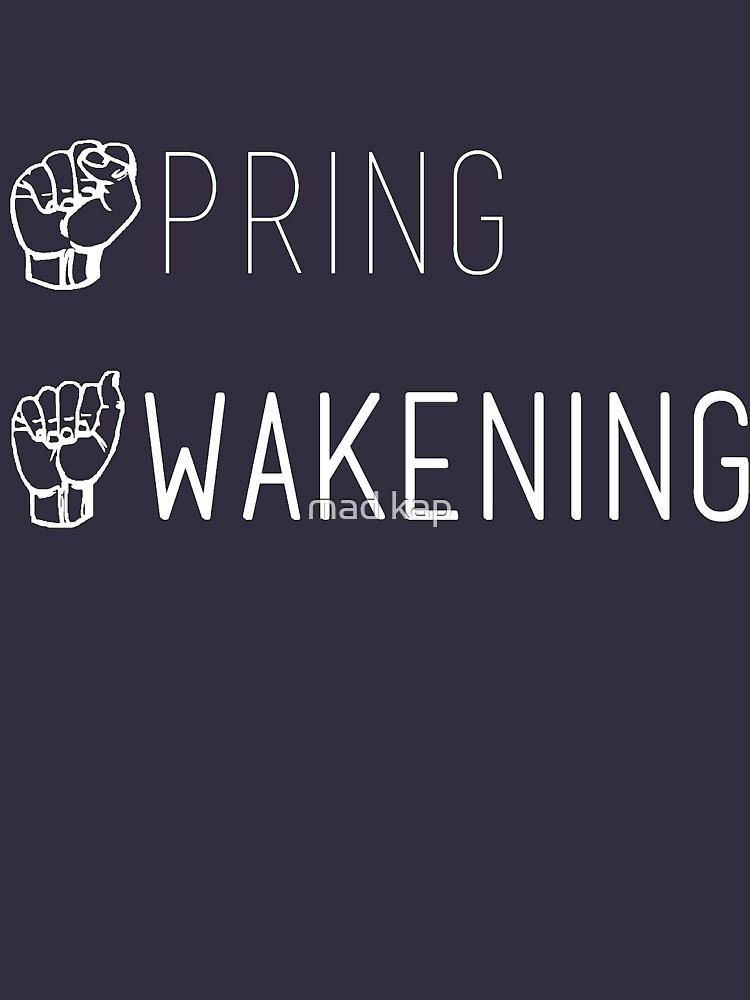 Frühling, der taube amerikanische Zeichen-Westsprache erwacht von madisynbozarth