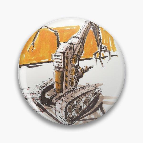 Construction Robot on Mars Pin