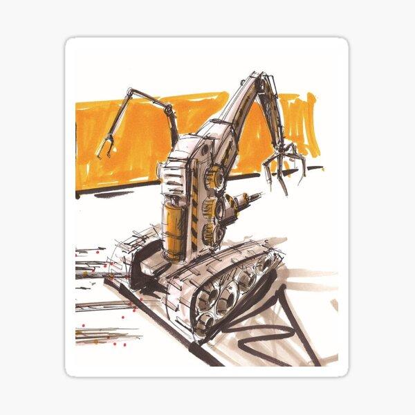 Construction Robot on Mars Sticker