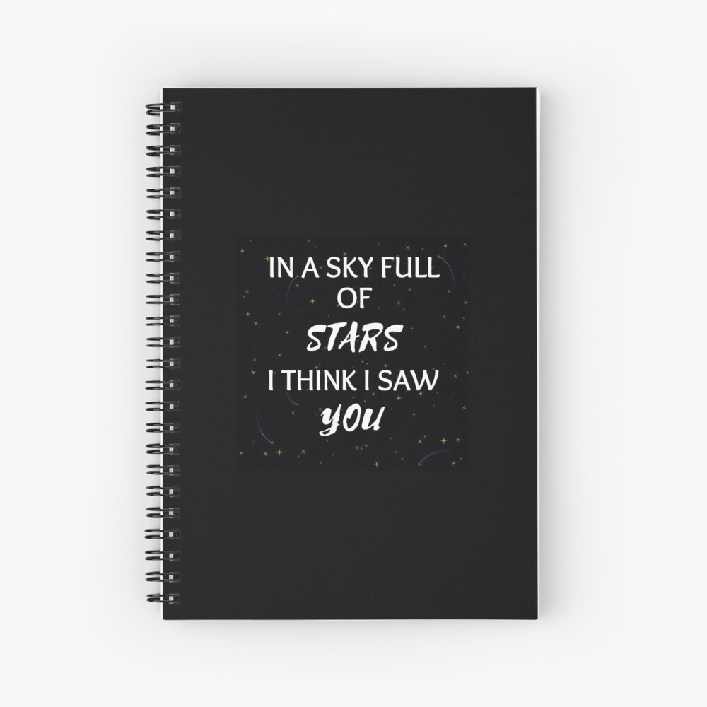 Coldplay In A Sky Full Stars I Think I Saw You Greeting Card By Fatemasaif1130 Redbubble