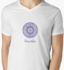breathe water drop Men's V-Neck T-Shirt