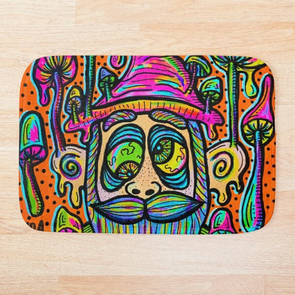 Trippy Gnome Bath Mat