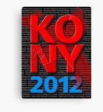 KONY 2012 Canvas Print