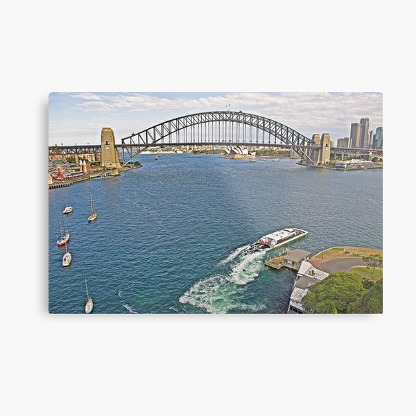 From McMahon's Point - Fare Five Dollars  (after Streeton) Metal Print