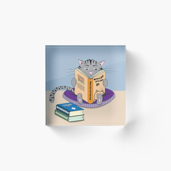 Reading cat in confinement Acrylic Block
