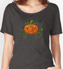 Pixel Pumpkin Carriage Women's Relaxed Fit T-Shirt