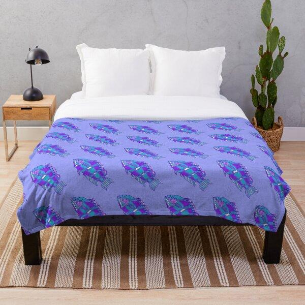 Something's Fishy - Purple Throw Blanket