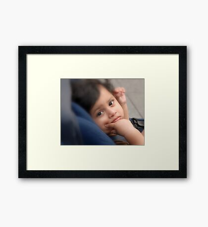 Child in the Park Framed Print