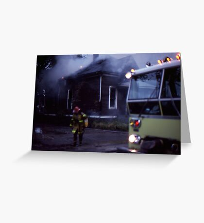 Fire in Detroit 1978 Greeting Card