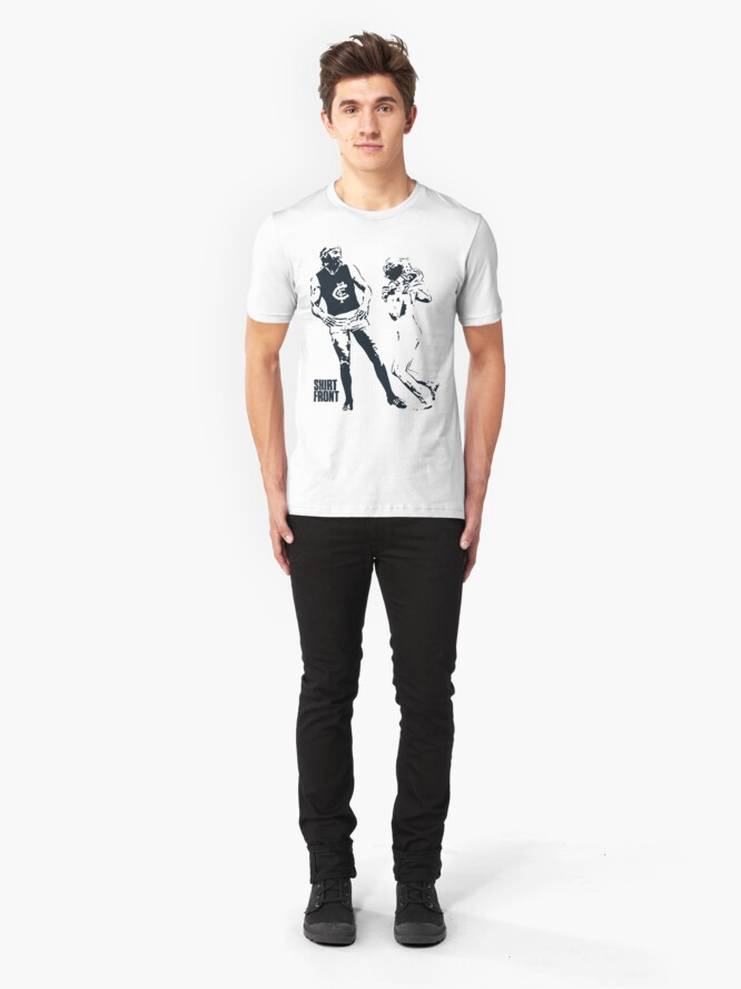 Alternate view of Beauty & The Bruce: White Slim Fit T-Shirt